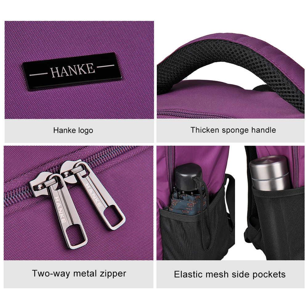 Hanke, женский рюкзак для девочек и мужчин, рюкзаки для путешествий, для ноутбука, 15,6 дюймов, mochila, Подростковая сумка, школьная сумка для студентов, 601905