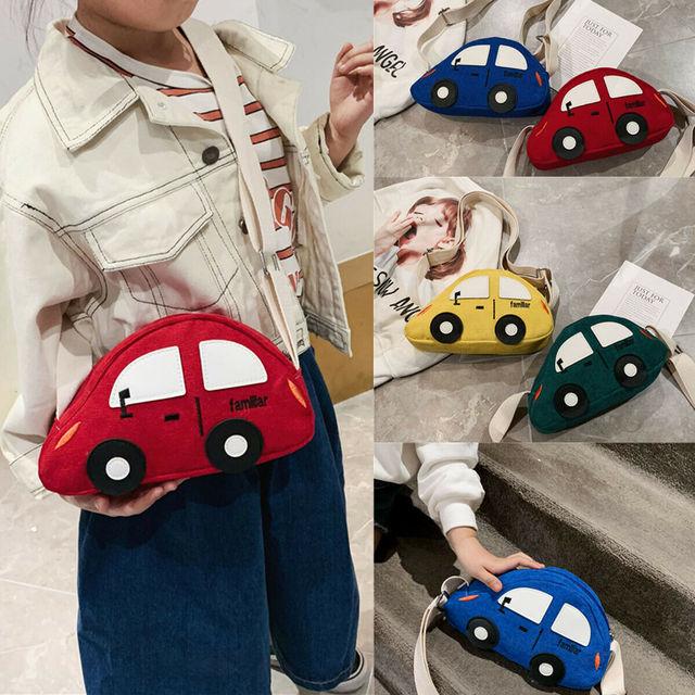 2019 Brand New Children Baby Boys&Girls Cute Cartoon Car Shoulder Bag Handbags Casual Mini Crossbody Purse Wallet Packet