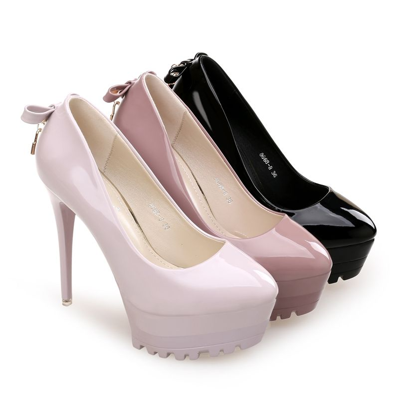 12CM super high heels womens pumps shoes TG1250 patent leather pink black beige platforms female womens party shoes
