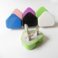 Adaptador de Carregador de viagem Portátil Triângulo adaptador UK plug Carregador de Parede AC USB Para O telefone móvel
