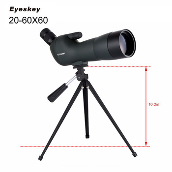 Eyeskey Angled 20-60x60 Zoom Waterproof Spotting Scope with Tripod BAK4 for Hunting Bird Watching