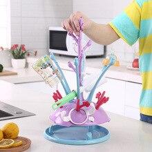 Портативная сушилка для детских бутылочек, держатель для бутылочек в форме дерева, соска для младенцев, чашки для кормления, сушилка для чистки T2155