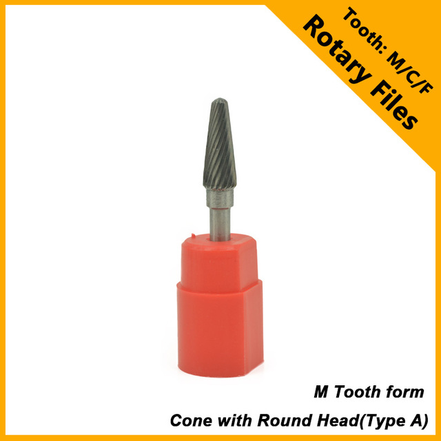 ADST HSS High Hardness Metalworking Hand Tools Cone With Round Head Rotary Files Carbit Burrs