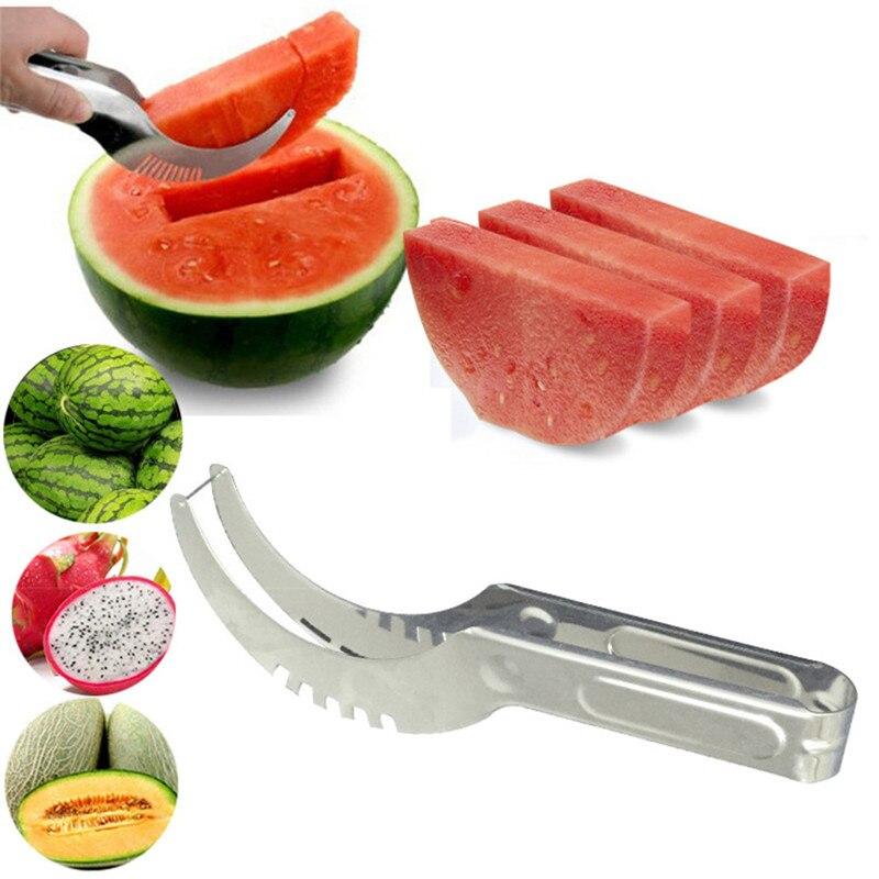 Watermelon cutter knife Cucumis melon Cutter Chopper Fruit font b Salad b font Cucumber Vegetable fruit