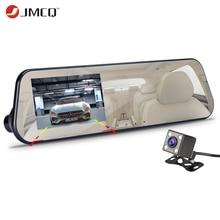 JMCQ Автомобильный видеорегистратор 1080 P Две камеры камера заднего вида для автомобиля Белое Зеркало видеорегистратор авто Регистратор запись Автоматическое покрытие g-сенсор