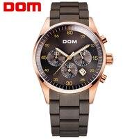Мужские часы люксовый Топ Бренд DOM Силиконовые кварцевые спортивные повседневные дизайнерские водонепроницаемые часы из нержавеющей стал