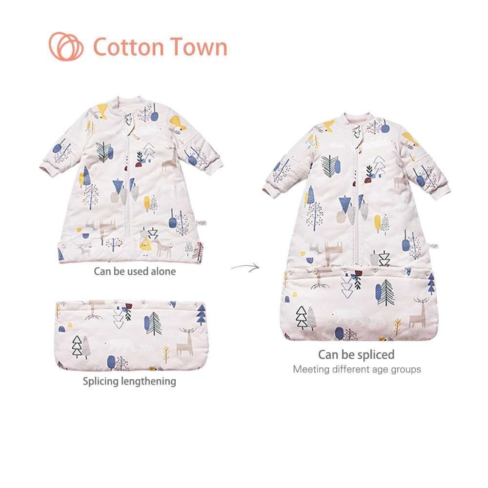 Cottontown Knitted Quilted Baby Sleeping Bag Baby Autumn Winter Cotton Anti-kick Baby Long Sleeve Warm Sleeping Bags SackCottontown Knitted Quilted Baby Sleeping Bag Baby Autumn Winter Cotton Anti-kick Baby Long Sleeve Warm Sleeping Bags Sack