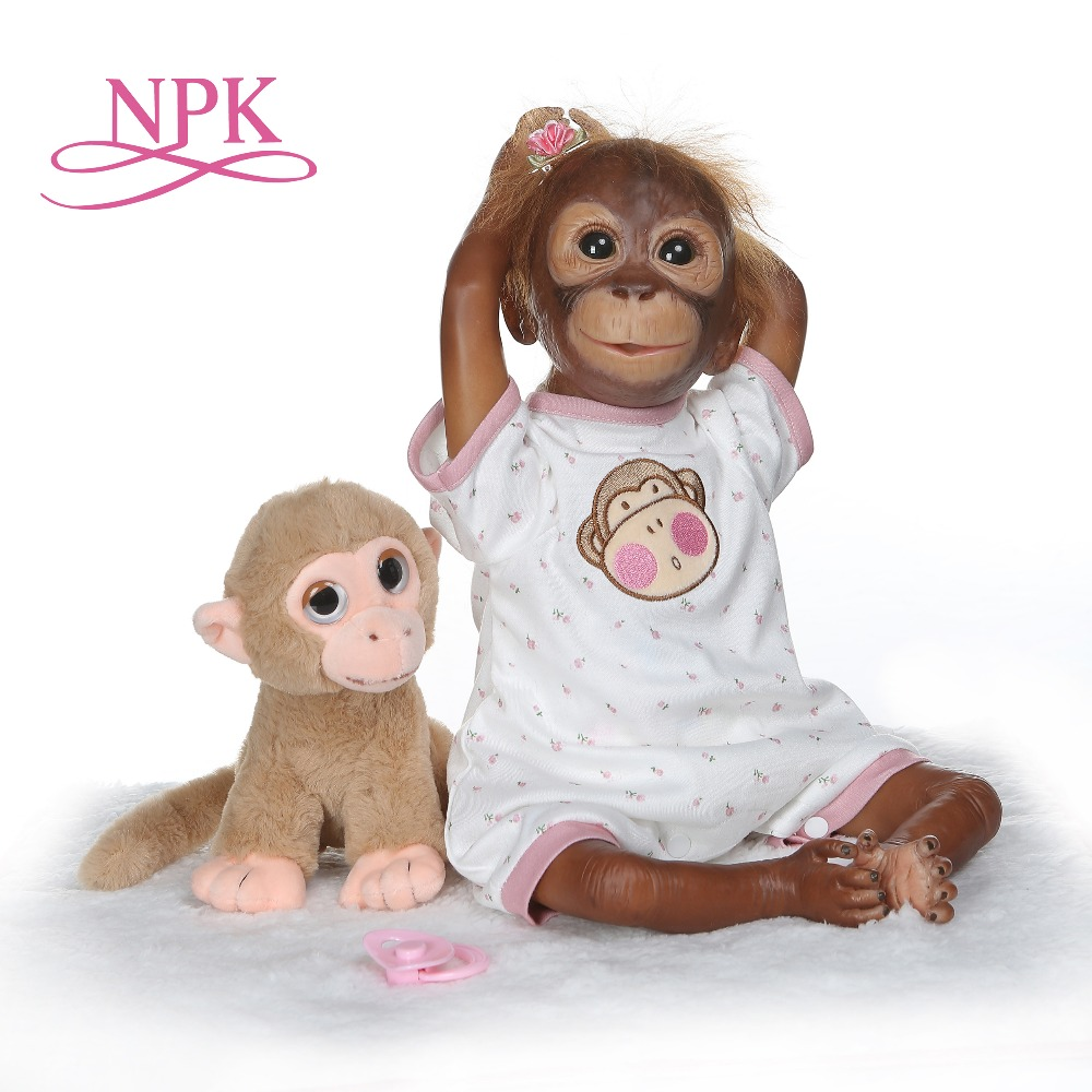 NPK nowy 21 cal 52 CM Baby girl lalki miękkiego silikonu Boneca Reborn elastyczne kolekcjonowania sztuki lalki w Lalki od Zabawki i hobby na  Grupa 1
