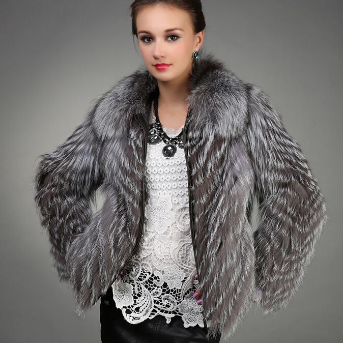 NEW 100% Real fox fur coat for women winter clothing warm genuine ...