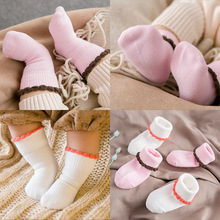 2Pcs New Design Winter Candy Color Socks Lovely Sweet Thicken Warm Children Baby Candy Color Socks