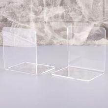 2 шт прозрачный акриловый держатель для книг l-образный Настольный органайзер для книг школьные канцелярские принадлежности офисные аксессуары