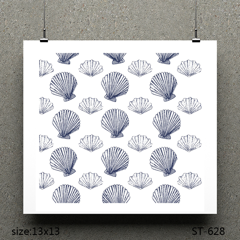 ZhuoAng shell design stamp / scrapbook rubber craft clear card seamless