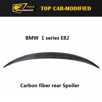Free Shipping newest high quallity 1 series P Style 2007-2016 For bmw spoiler E82 E88 rear lip wing carbon fiber image