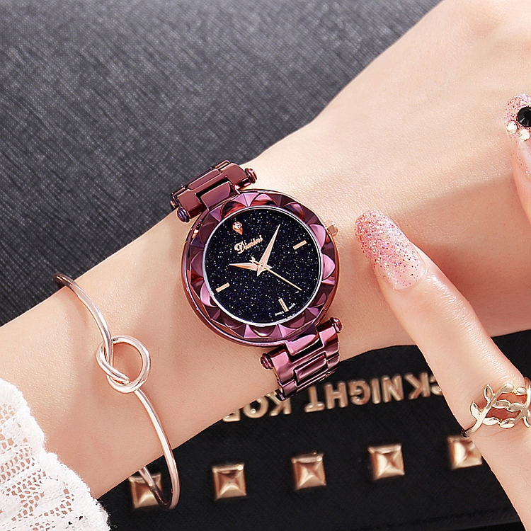 2019 New Top Quality Luxury lady Crystal Watch Women Men Dress Watch Fashion Gift Rose Gold
