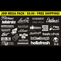 JDM Mega Sticker Pack  White You Get 26 Stickers Free Shipping  Hoonigan Illest  Panty Dropper (White)Car sticker truck decal