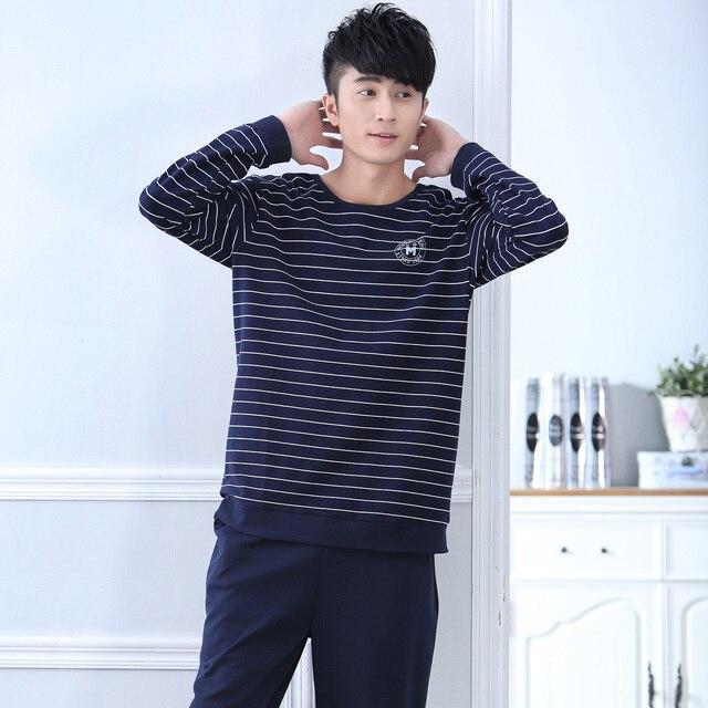 2016 winter full sleeve men pajama sets turn down collar silk satin geometric sleepwear imitation silk nightwear male homewear