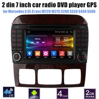 1024*600 Quad Core Android 6.0 for Mercedes BENZ S CL Class W220 W215 S280 S320 S430 S500 Car DVD Player GPS 4G Radio