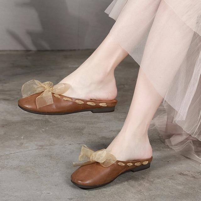 Venta A Hechos Zapatos En Artdiya De Cuero Mano Mujer Genuino n0wP8OXk