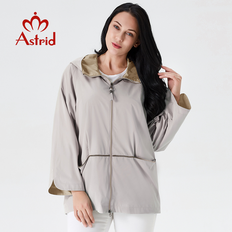Astrid 2019 women spring new collection spring sky blue big size trench women coat short women