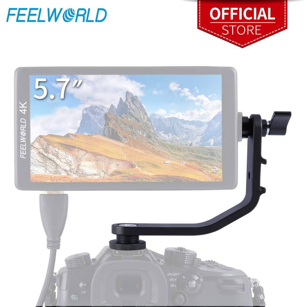 Tilt Arm for FEELWORLD F570 5.7 Inch 4K HDMI On Camera Field Monitor Mount on DSLR Stabilizer Gimbal Crane RigTilt Arm for FEELWORLD F570 5.7 Inch 4K HDMI On Camera Field Monitor Mount on DSLR Stabilizer Gimbal Crane Rig