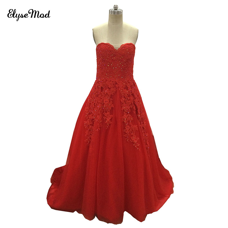 Puffy princesse populaire Debutante robe rouge vraie Photo robes 2018 pas cher Quinceanera robes doux 16 robes pour 15 ans