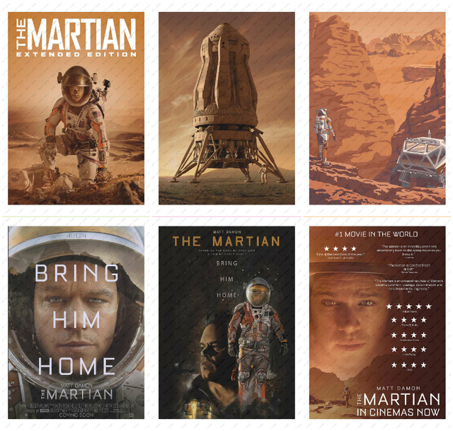 The Martian  Movie Poster White Kraft Paper wall sticker  Decorative paintings