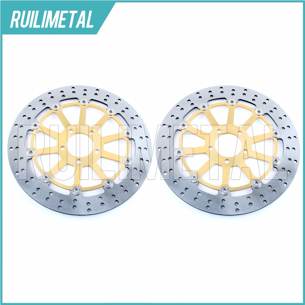 Pair NEW Front Brake Discs Disks Rotors for ZX7R NINJA ZX7RR ZXR L 750 R ZX9R ZZR 1100 ZX12R ZZR 1200 VN 1500 1600  Mean Streak front brake discs rotors for moto guzzi breva 850 1100 1200 05 09 griso 850 1100 1200 05 16 norge 850 1200 06 07 sport 1100 1200