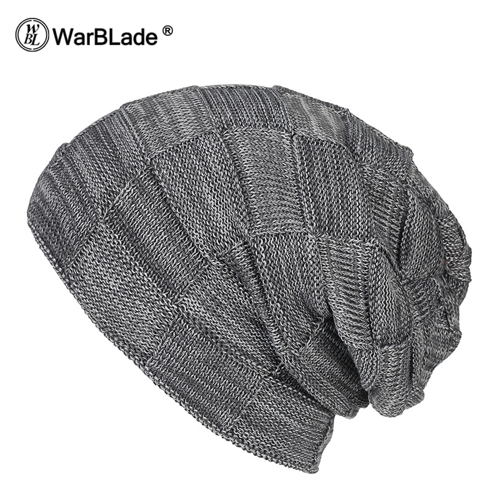 WarBLade New Fashion Men Women Warm Snow Winter Casual Beanies Solid 6 Colors Favourite Knit Hat Cap Hip Hop Casual Male Bonnet