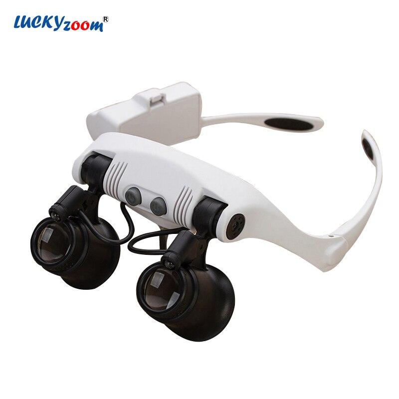 7803313f3773e Headband 10X 15X 20X 25X Substituível Óculos Lupa Relojoeiro Ferramenta de  Reparo Lupa LED Iluminado Lupa Lupa