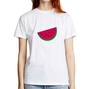 Women Summer T-Shirt Print Watermelon Modal Fashion Women's White Short Sleeve Casual O-neck S-3XL Size image