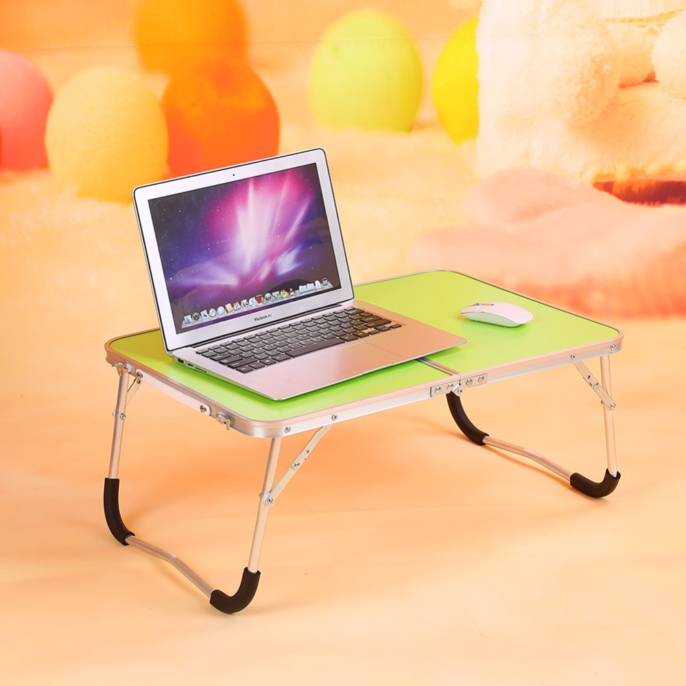 Green Multifunctional Foldable Table Picnic Table Dormitory Bed Notebook Desk Laptop Bed ...