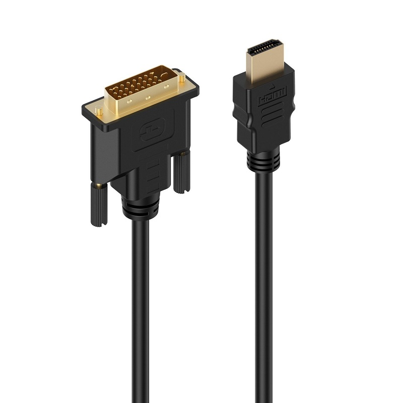 HDMI to DVI-D Video Cable Adapter - HDMI Male to DVI Male - HDMI to DVI Cable 1080p for high resolution LCD and LED monitors 1080p 24 1 pins dvi male to hdmi male connection cable 5m
