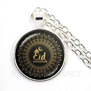 Image 4 - Collar con colgante de dios islámico árabe, de 25mm cúpula de cristal, joyería de cabujón, regalo de Ramadán para amigos