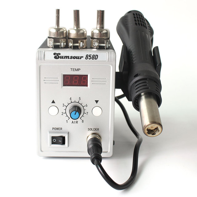 Soldering Hot Air Gun 858D 220V 110V 700W Adjustable Digital Display Heat Gun BGA SMD Rework Solder Station