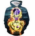 2017 Classic Anime Dragon Ball Z Hoodies Sweatshirts Women Men Long Sleeve Outerwear Cool Frieza Prints Hooded Sweatshirt