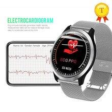 Nouvelle montre intelligente ECG + PPG fréquence cardiaque surveillance de la pression artérielle IP67 poof podomètre sport Fitness Bracelet pour hommes femmes