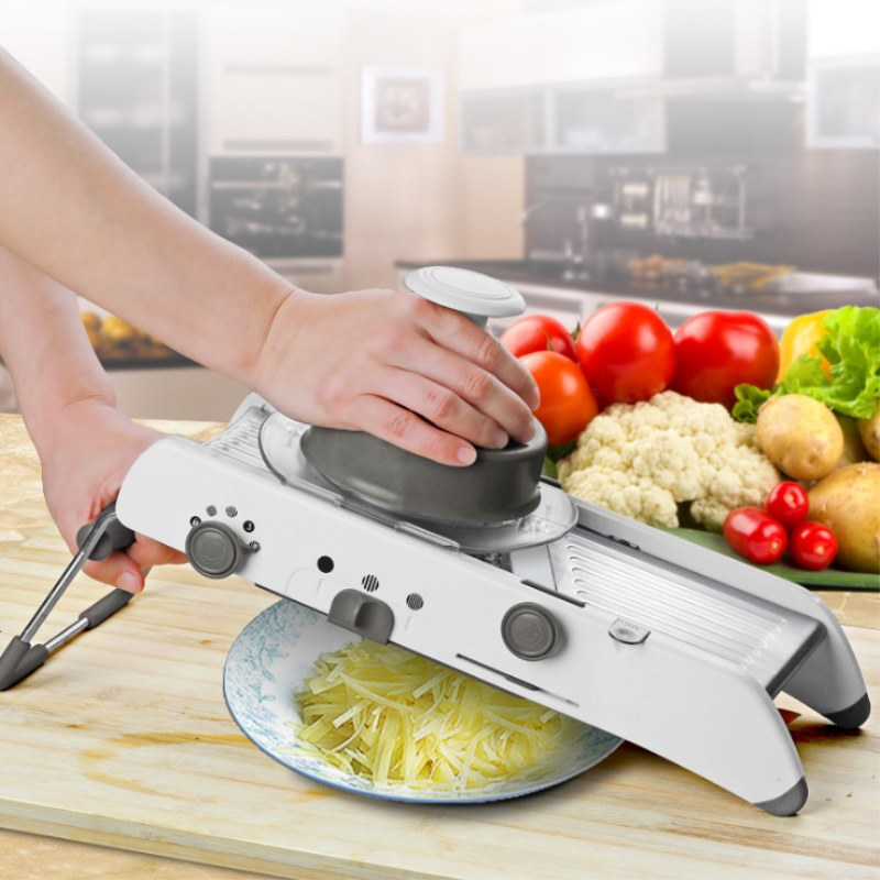 Adjustable Mandoline Slicer Professional Grater Vegetable Cutter Blades with 304 Stainless Steel Blades Kitchen Accessories tool gqd kie 001 stainless steel kiwi slicer cutter rind removal tool silver