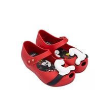Mini Melissa Anak Perempuan Sandal Kristal Jelly Sepatu Sandal Bayi Minnie Mickey Anak Lucu Bayi perempuan Sandal 13-18 cm