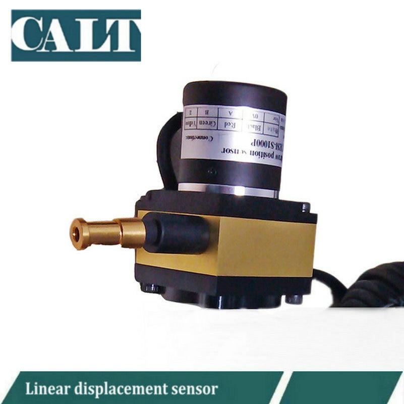 CALT 12V 24V 1000mm Range Displacement Linear Pull Wire Position Sensor Length Distance Measurement CESI S1000
