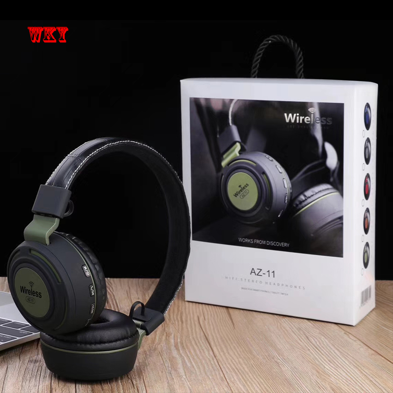 WKY Wireless Bluetooth Headphone HD Stereo Headset Bluetooth 42 Active Noise Cancelling Headset Support TF Card & Mic for phone