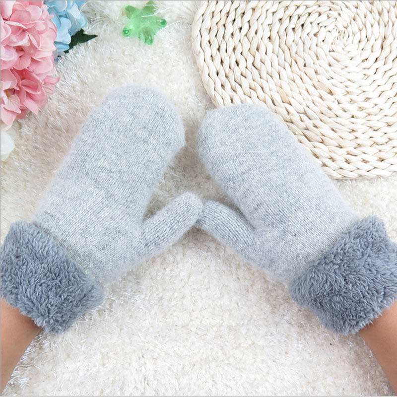 Gloves & Mittens: New Brand 2016 Mittens Womens Warm Winter Knitted Cashmere Twisted Warm Gloves Pure Color Even Refers to Knitted Gloves