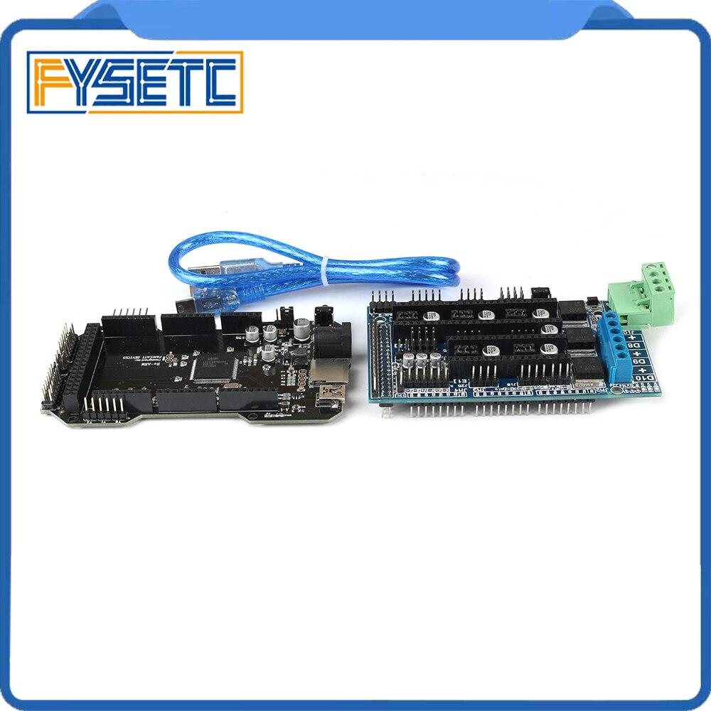 Imprimante 3D pièces RE-ARM carte de contrôle 32 bits mise à niveau Mega 2560 R3 carte mère + rampes 1.5 panneau de commande d'extension - 6
