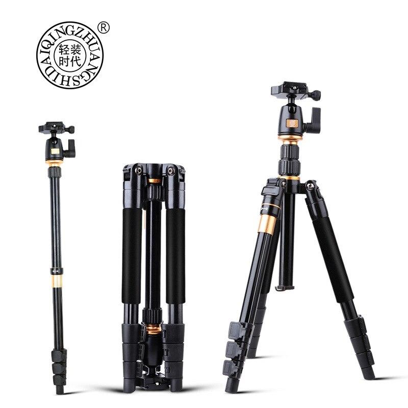 Monopode extensible professionnel de trépied vidéo de caméra de QZSD avec le support rapide de plat de libération Q555