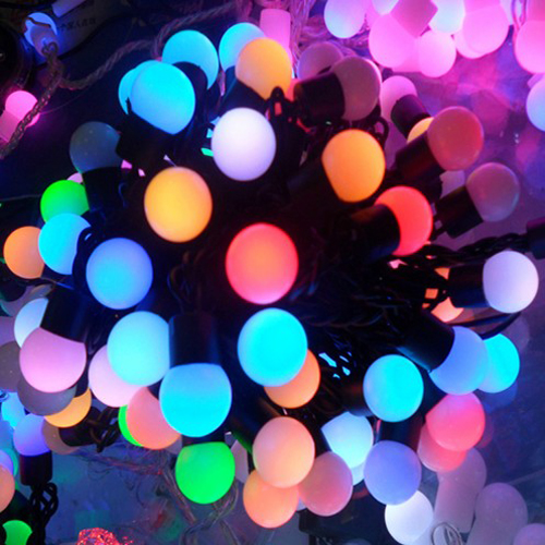 Aliexpress buy waterproof rgb twinkle led ball string lamps waterproof rgb twinkle led ball string lamps 10m 100leds christmas lights fairy wedding decoration luces de junglespirit Gallery