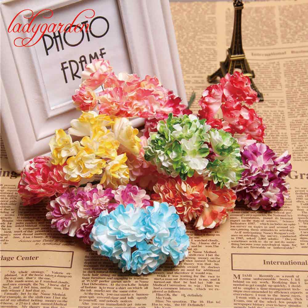 Realistic paper flowers reviews online shopping realistic paper cheap 12 pcs realistic silk chrysanthemum artificial flower for wedding decoration diy flower scrapbooking gift for wedding dhlflorist Image collections