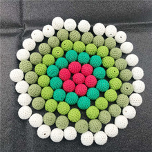 Christmas Crochet Beads Can Chew Beads 20mm 10pcs DIY Teething Necklace Pacifier Chains Accessories