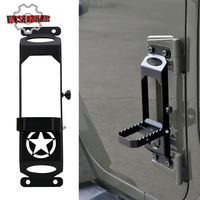 WISENGEAR For Jeep Foot Pedal Door Hinges Foot Pedal Peg For Jeep Wrangler JK 2007 2017