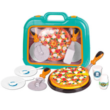 1 Box Pizza Toys Food Cooking Simulation Tableware Children Kitchen Pretend Play Toy With Tableware children play simulation kitchen cooking utensils