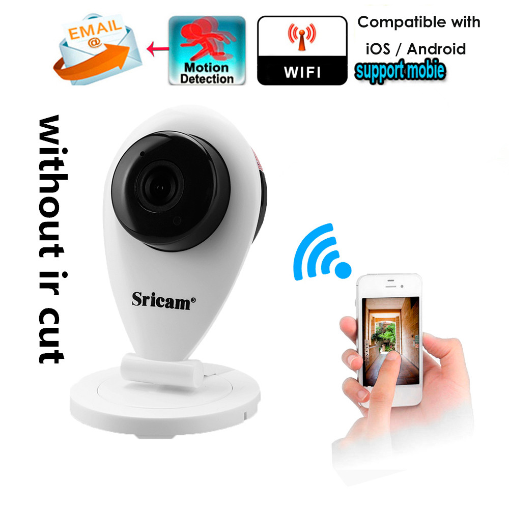 Sricam Mini Wireless HD 720P Wifi IP Camera Smart P2P Baby Monitor CCTV Security Camera Mobile Remote Camera Without IR CUT цена 2017