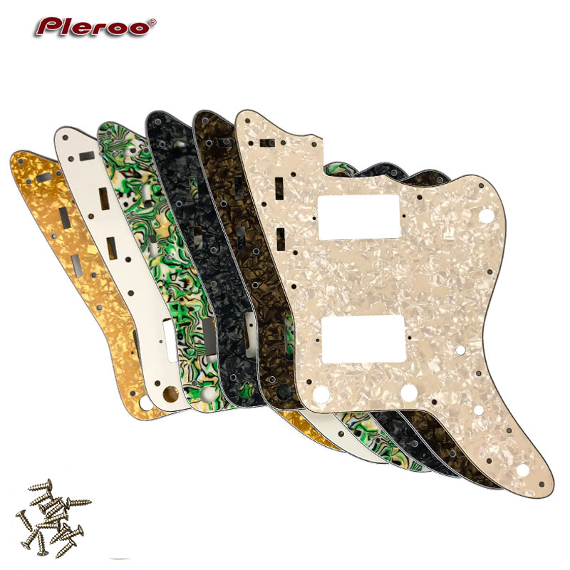 pleroo custom guitar parts for mij japan jazzmaster guitar pickguard with 2 paf humbuckers. Black Bedroom Furniture Sets. Home Design Ideas